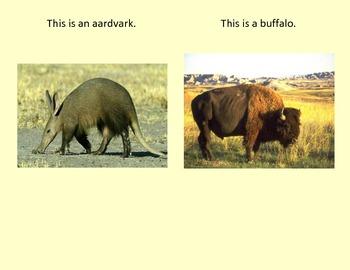 A Book of Animals - English phrasing