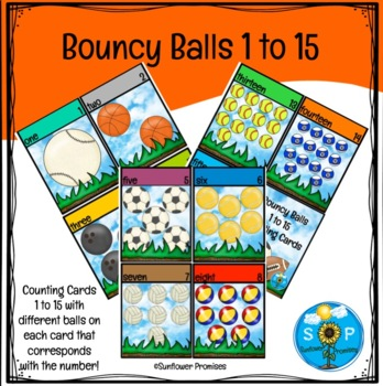 A Bouncy Ball Counting Cards One to Ten