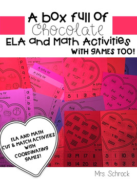 A Box Full of Chocolate-ELA and Math activities with games too!