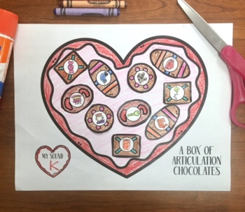 A Box of Articulation Chocolates! Speech Therapy Craft Activity