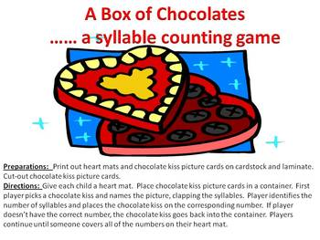 A Box of Chocolates - A Valentine's Day syllable clapping game