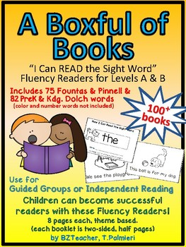 A Boxful of Books - A Growing BUNDLE of Sight Word Emergent Fluency Readers