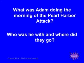A Boy At War by Harry Mazer Jeopardy