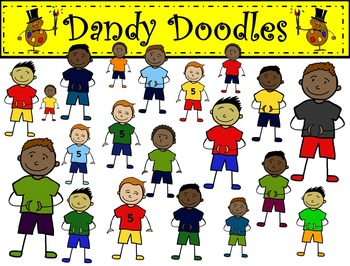 A Boy Bonanza Clip Art by Dandy Doodles