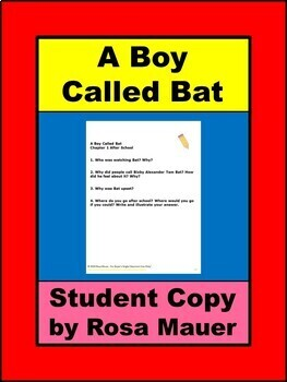 A Boy Called Bat Book Companion Student Copy Google  Slides