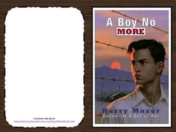 A Boy No More Literature Study Journal