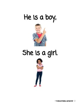 A Boy and A Girl- Informational Text (level 1-2)