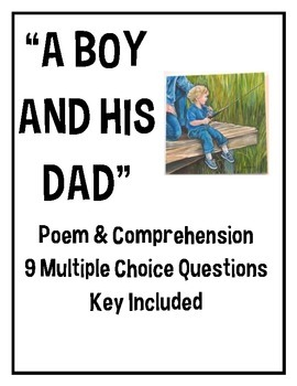 """""""A Boy and His Dad"""" poem, middle school, Father's Day, poetry, June"""