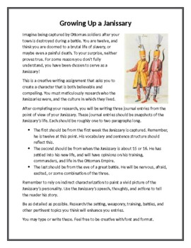 A Boy's Life: Growing Up an Ottoman Janissary Creative Writing Project