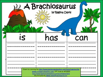 A+  Brachiosaurus ... Three Graphic Organizers