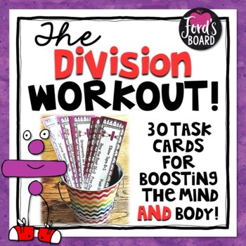 30 Division Fluency and Brain Breaks Task Cards