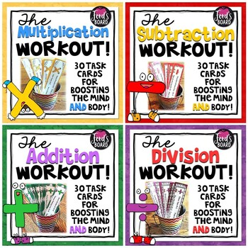 Math Fluency and Exercise Brain Breaks Bundle