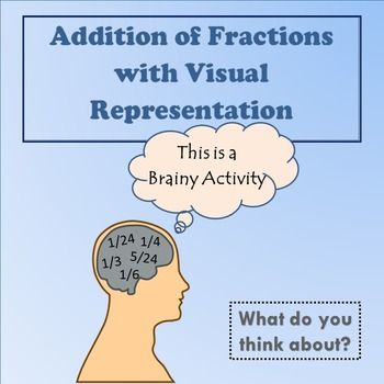 Addition of Fractions with Visual Representation