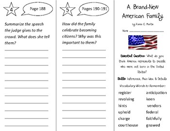 A Brand New American Family Trifold - Open Court 2nd Grade Unit 5 Lesson 1