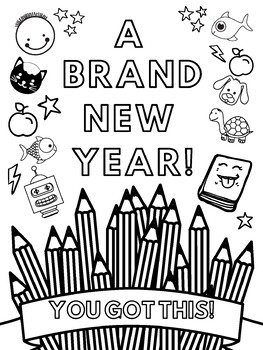 A Brand New Year Coloring Page