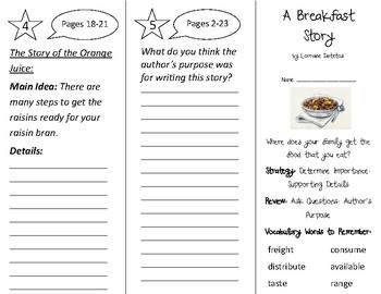 A Breakfast Story Trifold - 2nd Grade Literacy by Design Theme 12