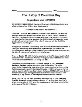 A Brief History of Columbus Day
