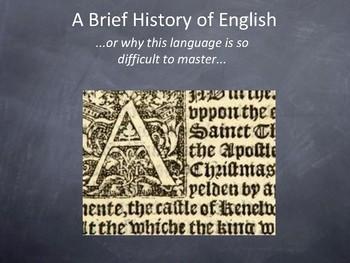 A Brief History of English Presentation