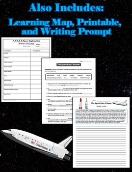A Brief History of N.A.S.A. and the Space Race (lesson, powerpoint & printable