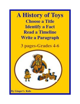 Timeline of Toys