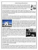 A Brief History of the Internet - Reading Comprehension Worksheet
