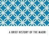 A Brief History of the Maori - Perfect for A Sub!