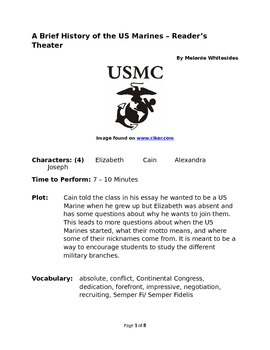 A Brief History of the US Marines – Small Group Reader's Theater