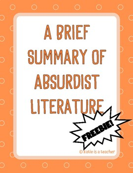 A Brief Summary of Absurdist Literature