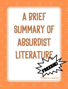 A Brief Summary of Absurdist Literature