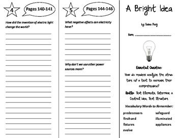 A Bright Idea Trifold - ReadyGen 6th Grade Unit 4 Module B