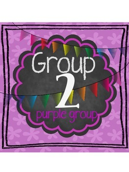 A Bright Rainbow Chalkboard Numbers and Color labels
