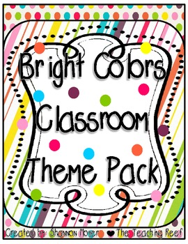 A Bright Theme Classroom Pack