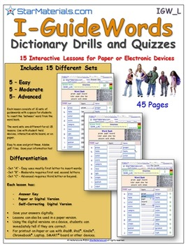 A Brilliant Guide Word Set -  15 Differentiated Lessons  I-Guide IGW_L