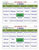 1 SSL- SCHOOL SITE LICENSE - A Brilliant - I-BINGO – All 50 State Capitals