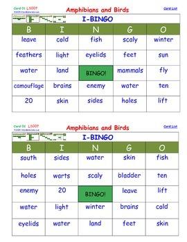 A Brilliant - I-BINGO – Amphibians and Birds - LS007 Interactive BINGO