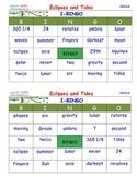 A Brilliant -  I-BINGO – Eclipses and Tides - IBSS007 Interactive BINGO