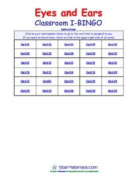A Brilliant - I-BINGO – Eyes and Ears - LS012 Interactive BINGO
