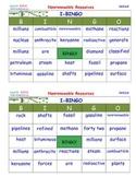 A Brilliant -  I-BINGO – Non Renewable Resources - Interactive Nonrenewable