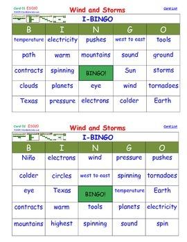 A Brilliant -  I-BINGO – Wind and Storms - Interactive BINGO