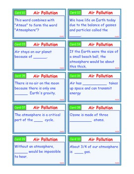 A Brilliant - I-Scoot – Air Pollution – 30 Task Cards - Interactive