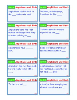 A Brilliant - I-Scoot – Amphibians and Birds  – 30 Task Cards - Interactive
