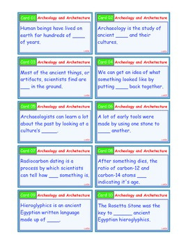 A Brilliant - I-Scoot – Archeology & Architecture – 30 Task Cards - Interactive
