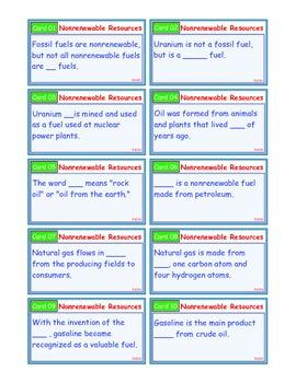 A Brilliant - I-Scoot – Non Renewable Resources – 30 Task Cards - Nonrenewable