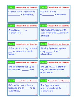 A Brilliant - I-Scoot – Communication & Inventions – 30 Task Cards - Interactive