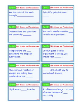 A Brilliant - I-Scoot – DIY Science and Pseudoscience – 30 Cards - Interactive