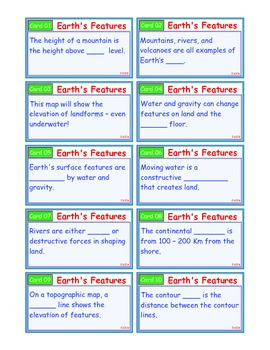 A Brilliant - I-Scoot – Earth's Features – 30 Task Cards - Interactive