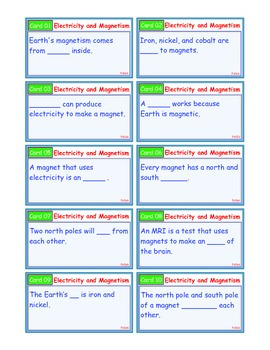 A Brilliant - I-Scoot – Electricity and Magnetism – 30 Task Cards - Interactive