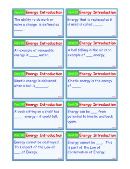 A Brilliant - I-Scoot – Energy Introduction – 30 Task Cards - Interactive
