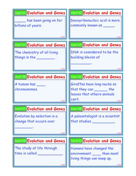 A Brilliant - I-Scoot – Evolution and Genes – 30 Task Cards - Interactive