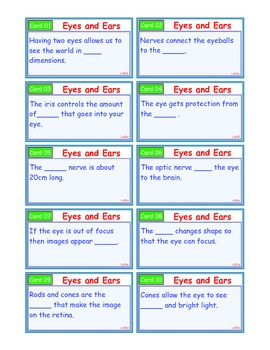 A Brilliant - I-Scoot – Eyes and Ears – 30 Task Cards - Interactive
